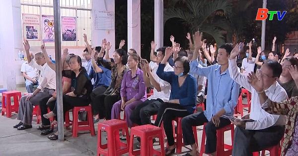 Bình Dương hoàn thành hội nghị cử tri nơi cư trú