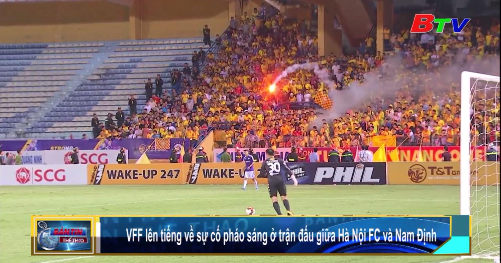 VFF lên tiếng về sự cố pháo sáng ở trận đấu giữa Hà Nội FC và Nam Định