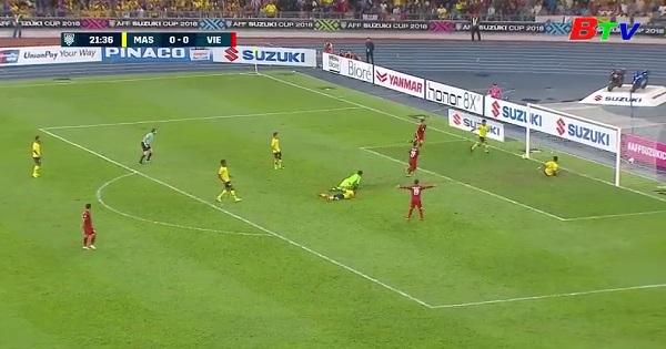 Chung kết lượt đi AFF Cup 2018: Malaysia 2-2 Việt Nam