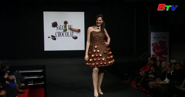 Những mẫu thời trang thơm và ngọt tại Hội chợ Chocolate, Bỉ