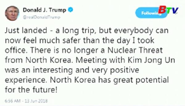 Trump khẳng định Triều Tiên không còn là mối lo hạt nhân