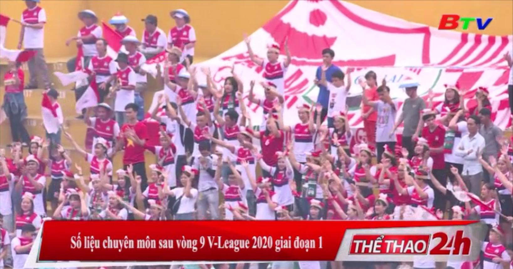 Số liệu chuyên môn sau vòng 9 V-League 2020 giai đoạn 1