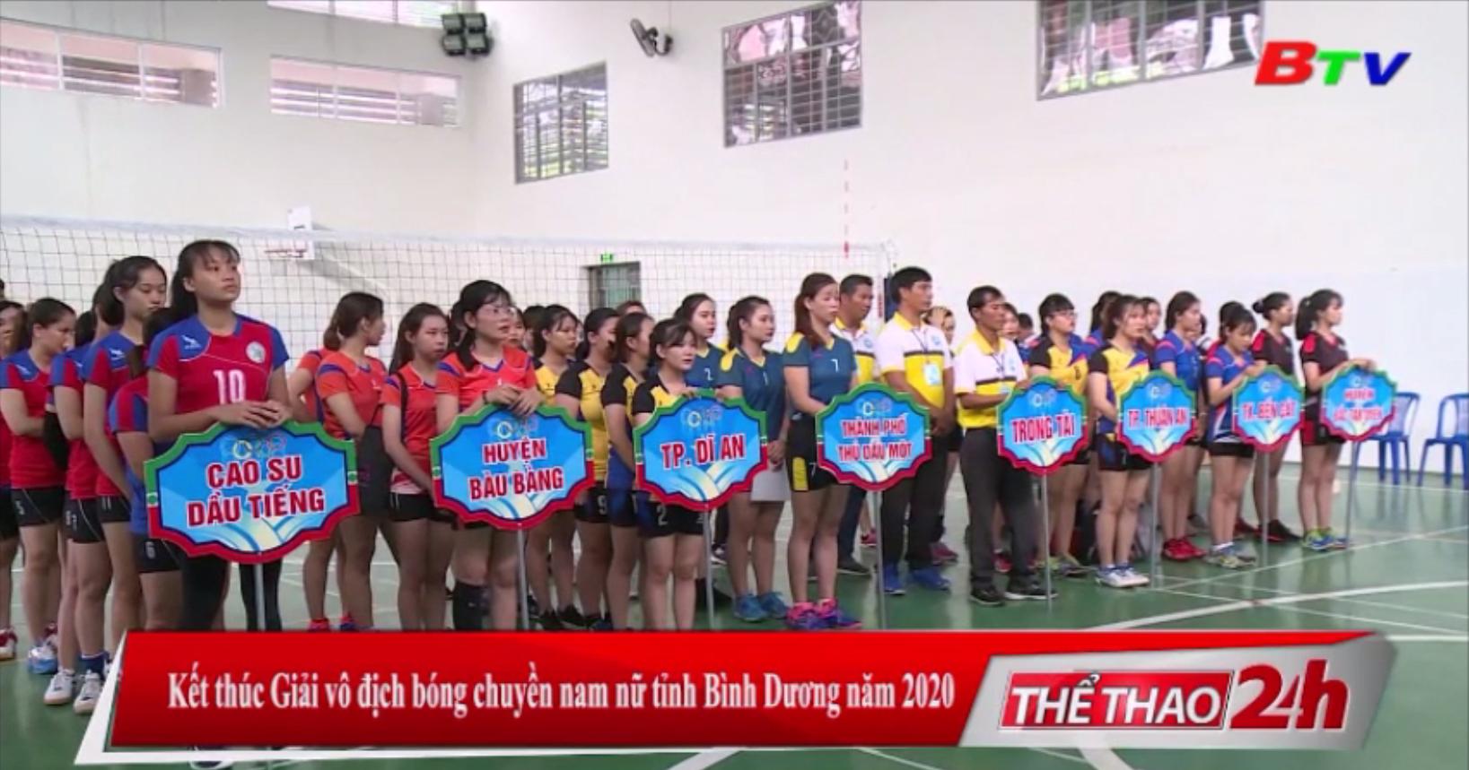 Kết thúc Giải vô địch bóng chuyền nam - nữ tỉnh Bình Dương năm 2020