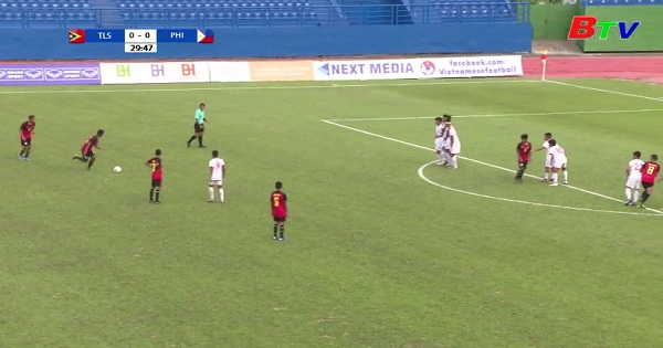 Kết quả lượt trận thứ tư bảng Á , U18 VĐ Đông Nam Á 2019