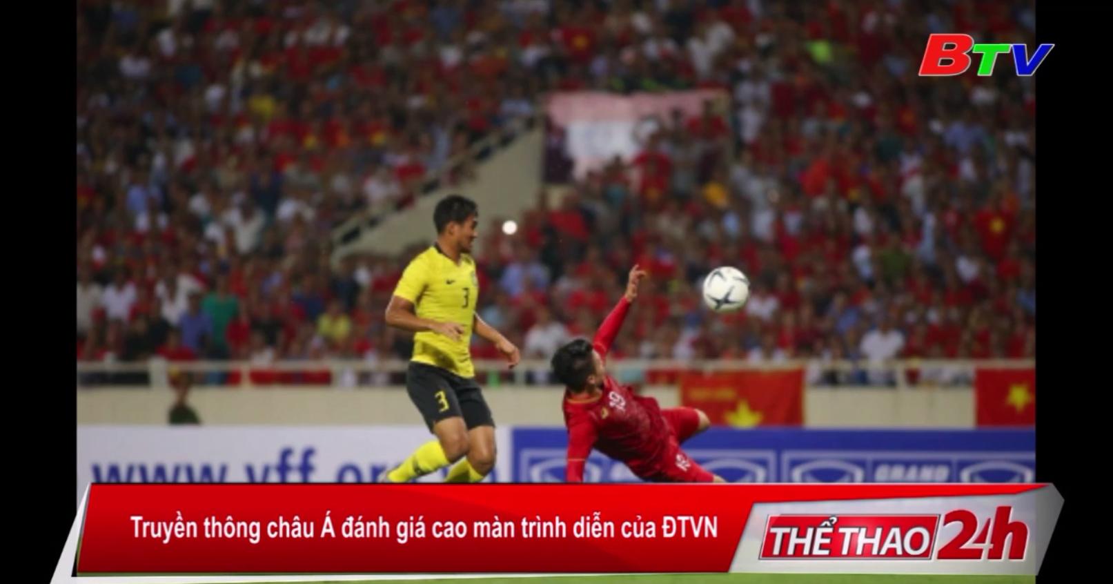 Truyền thông châu Á đánh giá cao màn trình diễn của ĐTVN