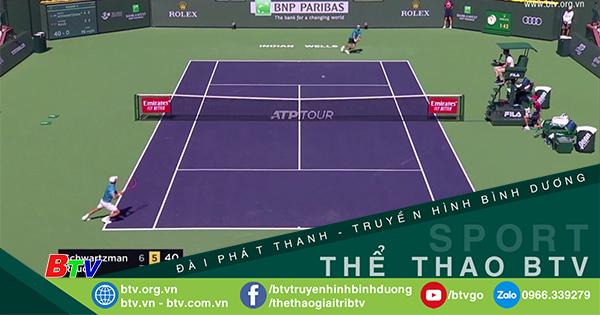 Kết quả vòng 4 nội dung đơn nam Giải quần vợt Indian Wells 2021