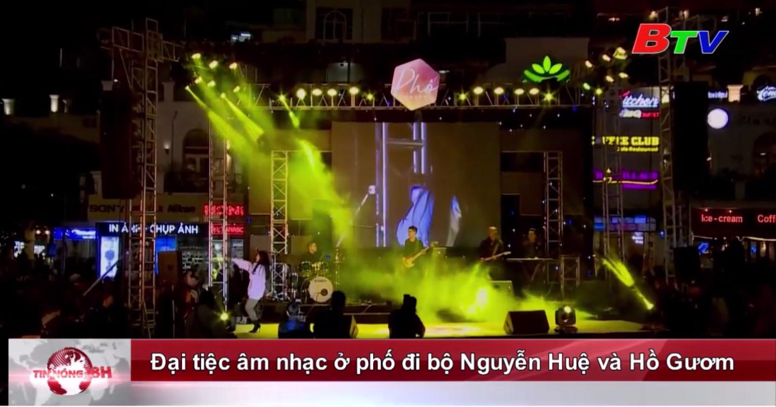 Đại tiệc âm nhạc ở phố đi bộ Nguyễn Huệ và Hồ Gươm