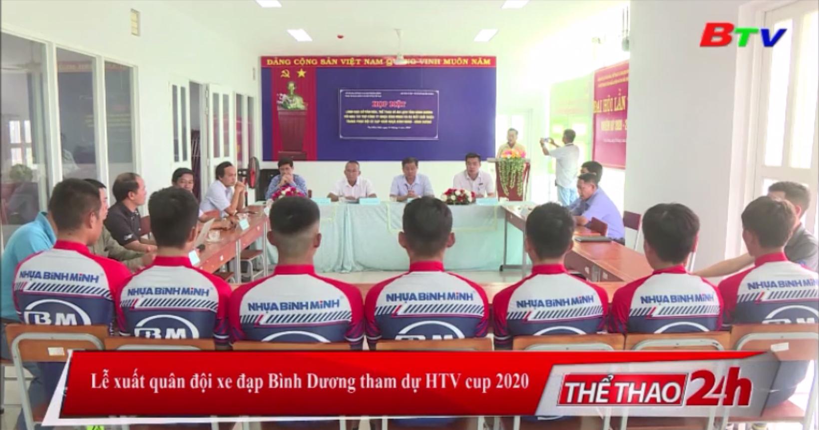 Lễ xuất quân Đội xe đạp Bình Dương tham dự HTV Cúp 2020