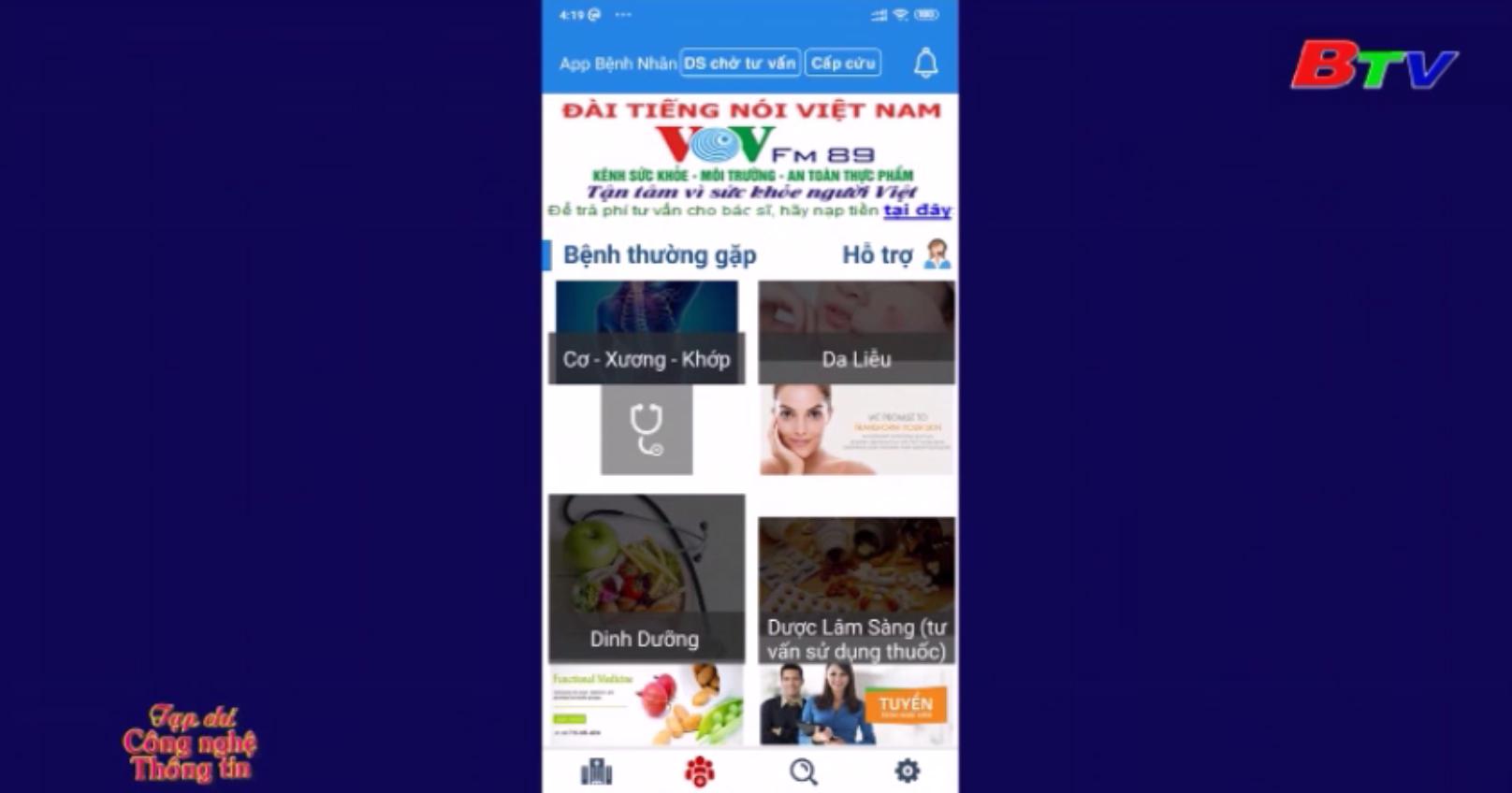 Giới thiệu ứng dụng tư vấn sức khỏe trực tuyến VOV Bacsi24