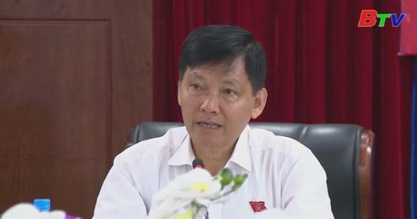 Thường trực HĐND tỉnh họp xem xét cho ý kiến về các tờ trình của UBND tỉnh