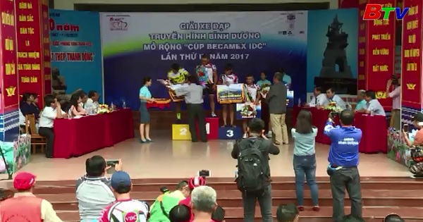 Tổng kết chặng 4 Giải xe đạp truyền hình Bình Dương mở rộng - Cup Becamex IDC 2017