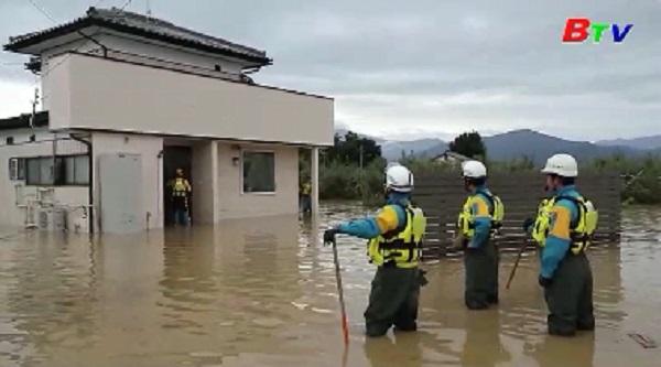 Số người thiệt mạng do siêu bão Hagibis tại Nhật Bản tăng mạnh