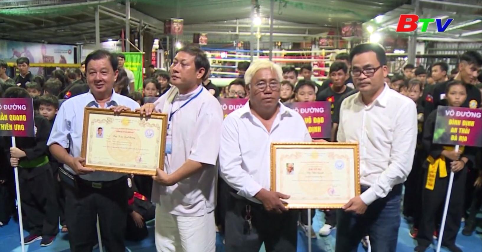Giải võ thuật cổ truyền Quang Trung mở rộng tỉnh Bình Dương năm 2019 - Góp phần bảo tồn tinh hoa võ dân tộc