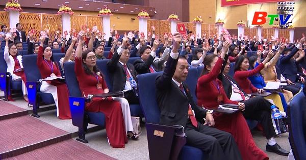 Thông qua Nghị quyết Đại hội XI Đảng bộ tỉnh Bình Dương nhiệm kỳ 2020 - 2025