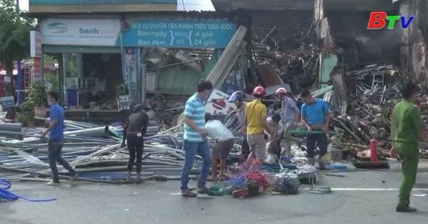 Cháy Ki-ốt bán hàng điện nước làm 1 người tử vong
