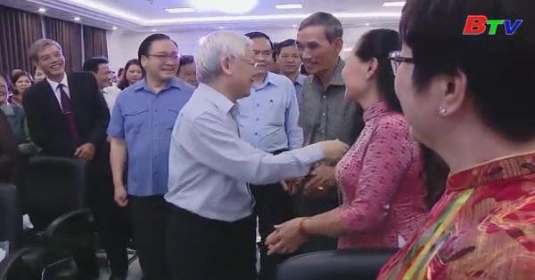 Tổng Bí thư, Chủ tịch nước Nguyễn Phú Trọng dự ngày hội Đại đoàn kết toàn dân tộc
