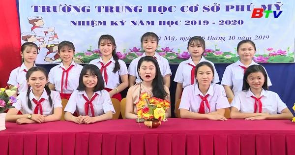 Giao lưu với trường THCS Phú Mỹ