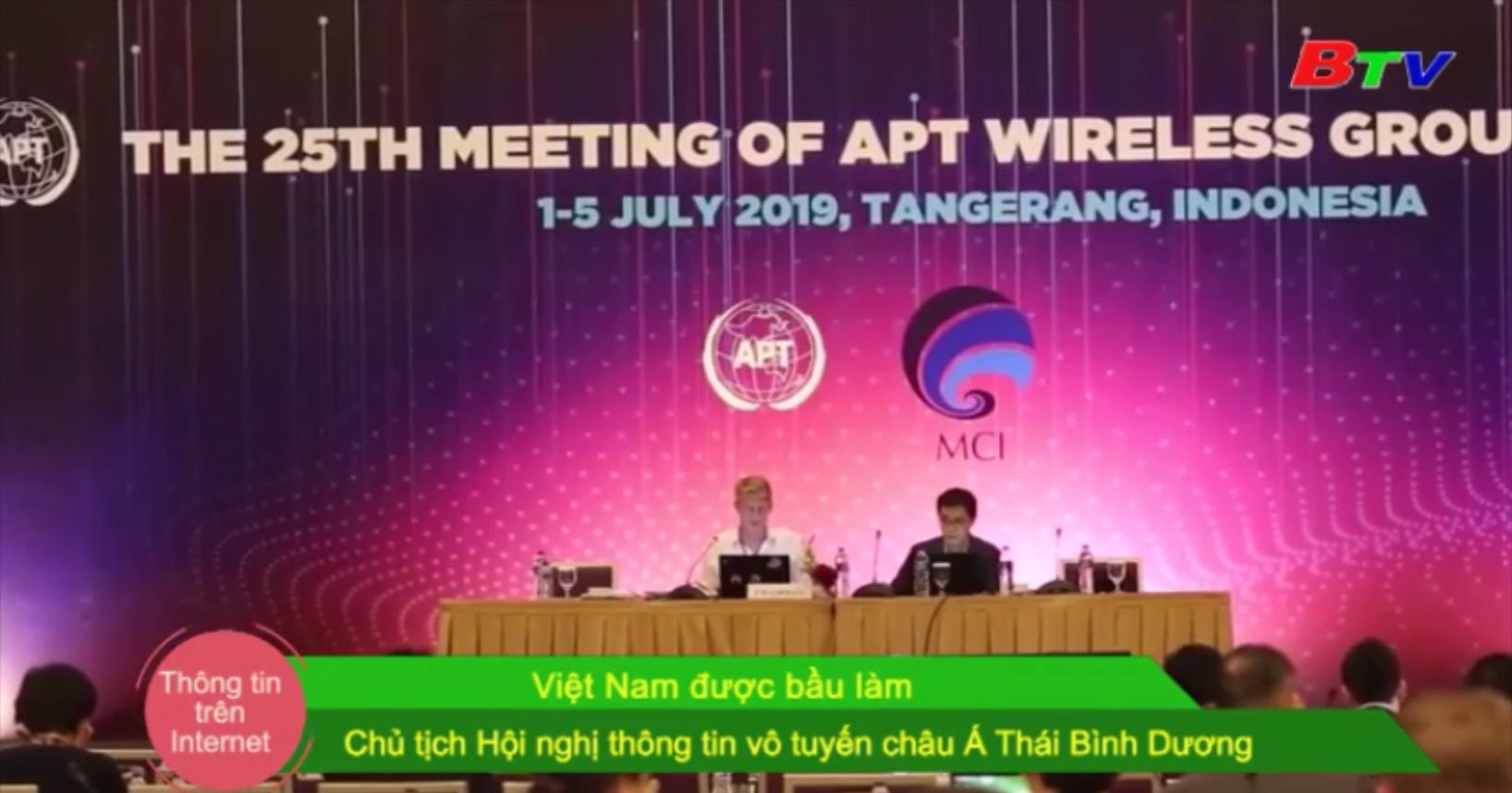 Việt Nam được bầu làm Chủ tịch Hội nghị thông tin vô tuyến châu Á Thái Bình Dương