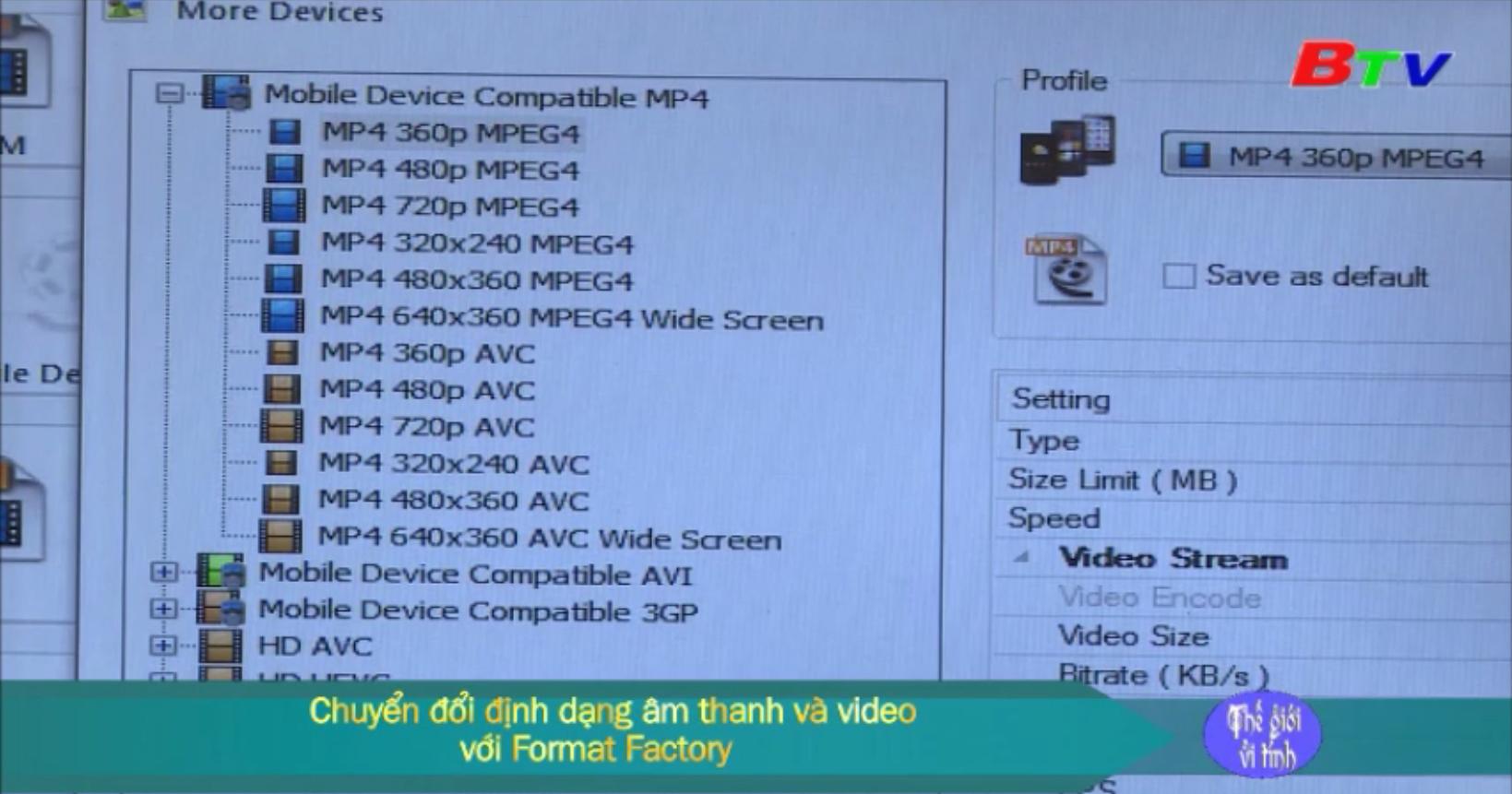 Chuyển đổi định dạng âm thanh và video với Format Factory