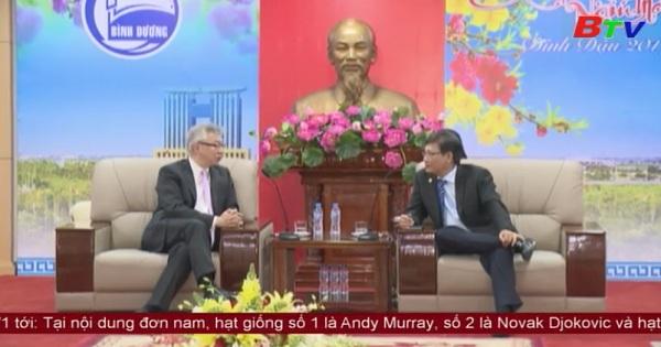 Lãnh đạo UBND tỉnh Bình Dương tiếp và làm việc với Chủ tịch Phòng Thương mại Mỹ - Việt