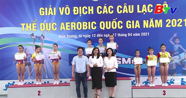 Kết thúc Giải vô địch các câu lạc bộ thể dục Aerobic Quốc gia năm 2021