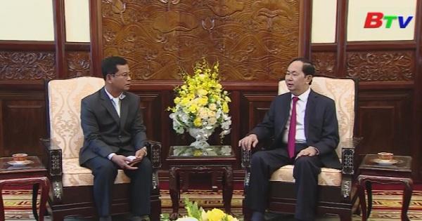Chủ tịch nước tiếp thứ trưởng Bộ Công an Lào