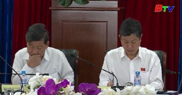 Phiên họp thường trực HĐND tỉnh Bình Dương lần thứ 32