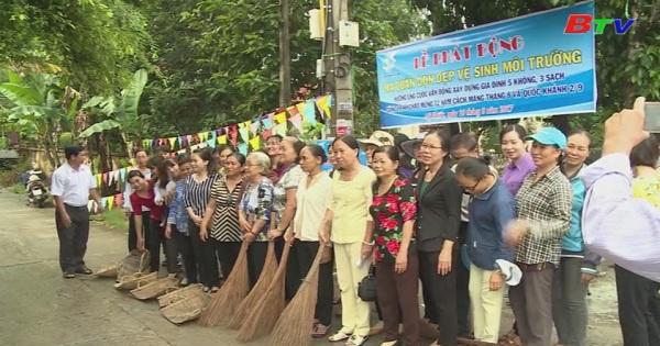 Phụ nữ Bến Cát chung tay bảo vệ môi trường