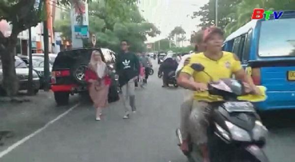 Động đất mạnh 5,7 độ richter rung chuyển đảo Bali, Indonesia