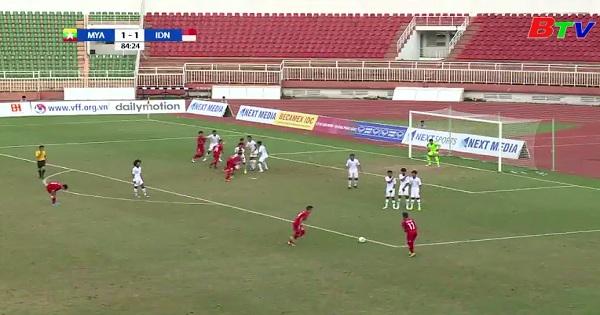 Giải vô địch U18 Đông Nam Á năm 2019: Indonesia và Myama vào bán kết