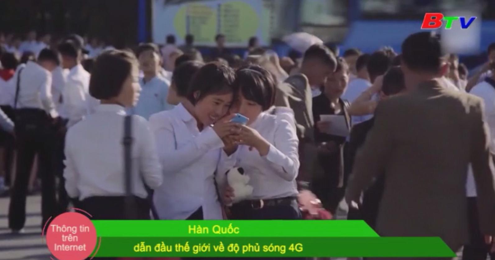 Hàn Quốc dẫn đầu thế giới về độ phủ sóng 4G