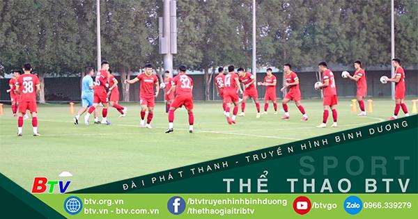 Cầu thủ U23 Việt Nam tập luyện cùng Huấn luyện viên Park Hang Seo