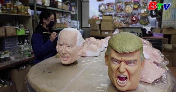 Nhật Bản - Quyền lực được chuyển giao êm thấm từ Donal Trump  sang Joe Biden  ở cơ sở sản xuất mặt nạ