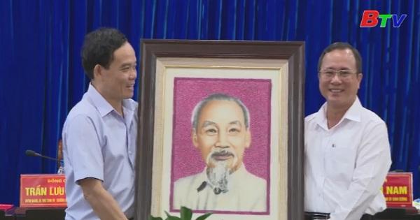 Lãnh đạo tỉnh Bình Dương tiếp đoàn công tác Tỉnh ủy Tây Ninh