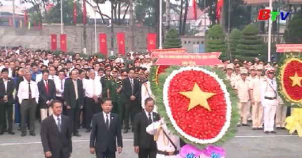Bình Dương tổ chức lễ viếng nghĩa trang liệt sĩ tỉnh