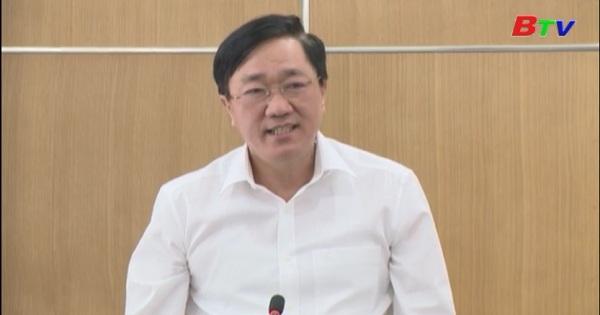 Lãnh đạo tỉnh Bình Dương tiếp đoàn công tác ngân hàng Chính sách xã hội Việt Nam