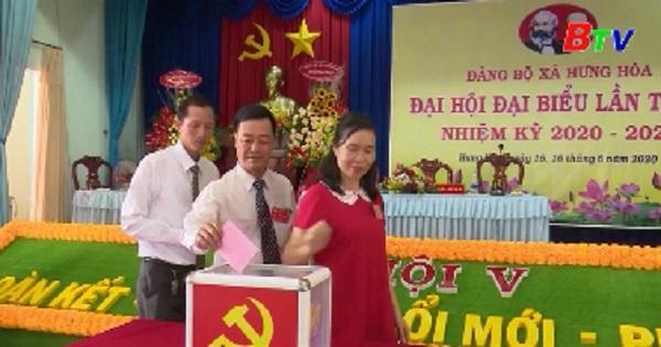 Đại hội đại biểu Đảng bộ xã Hưng Hòa (Bàu Bàng) lần V, nhiệm kỳ 2020-2025