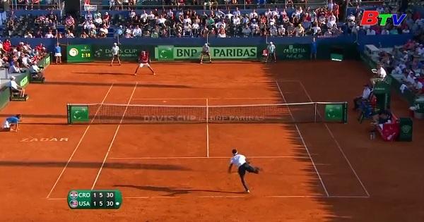 Tuyển Croatia vào chung kết Giải quần vợt Davis Cup 2018