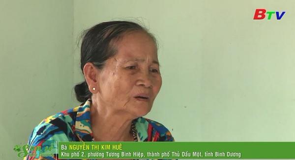 San Sẻ Yêu Thương - Hoàn cảnh bà Nguyễn Thị Kim Huê, (KP2, Tương Bình Hiệp, TP.TDM, Bình Dương)