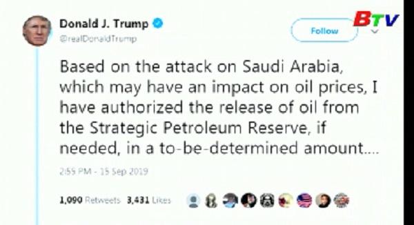 Mỹ sẵn sàng mở kho dự trữ dầu chiến lược
