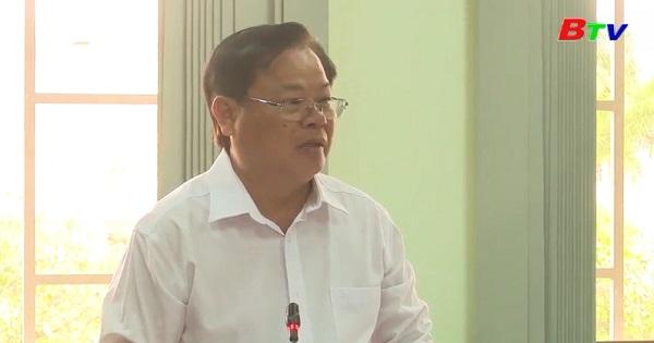 Bí thư Tỉnh ủy Bình Dương làm việc với Thị ủy Tân Uyên