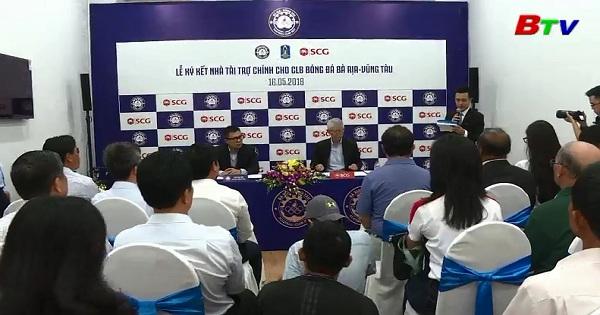 SCG tài trợ CLB hạng nhì Bà Rịa Vũng Tàu từ mùa Giải 2018