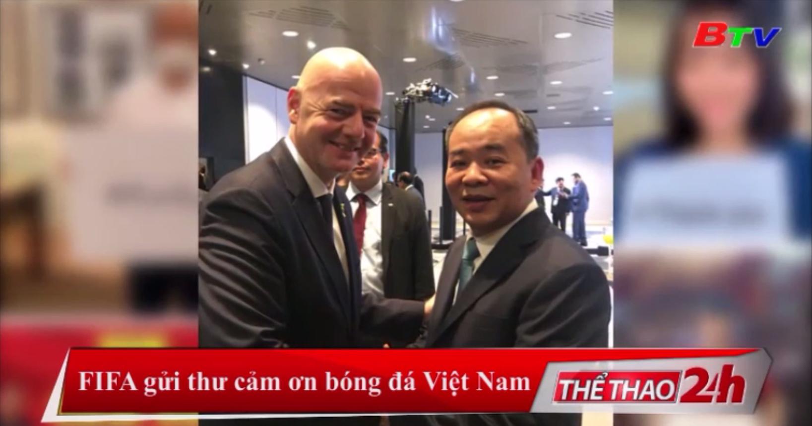 FIFA gửi thư cảm ơn bóng đá Việt Nam
