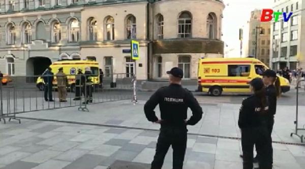 Taxi tông vào đám đông ở Moscow, 8 người bị thương