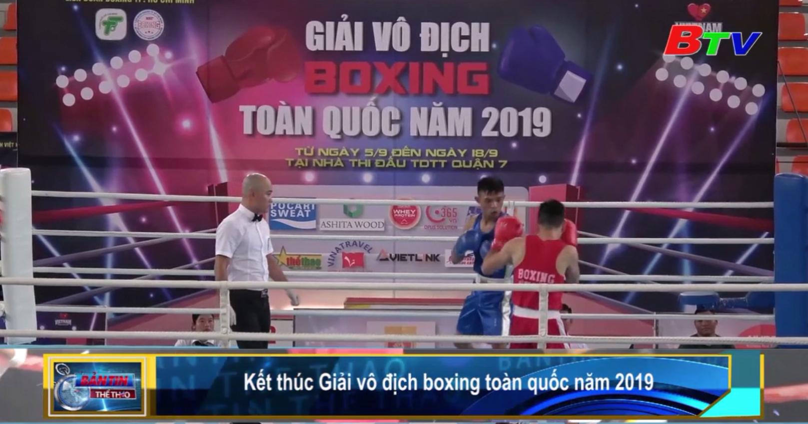 Kết thúc Giải vô địch boxing toàn quốc năm 2019