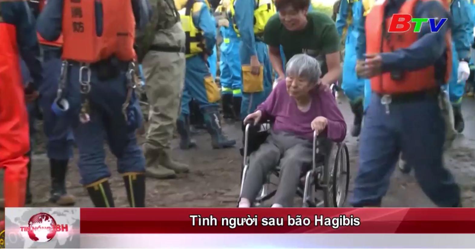 Tình người sau bão Hagibis