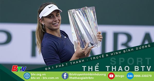 Paula Badosa trở thành tay vợt Tây Ban Nha đầu tiên vô địch ở Indian Wells
