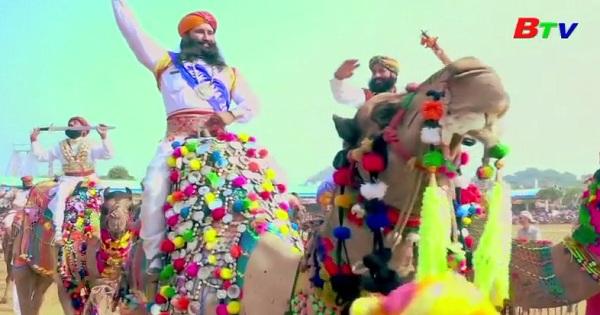 Khép lại hội chợ lạc đà đầy màu sắc ở Ấn Độ