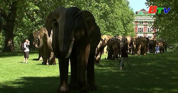Trưng bày các tác phẩm điêu khắc voi ở LONDON