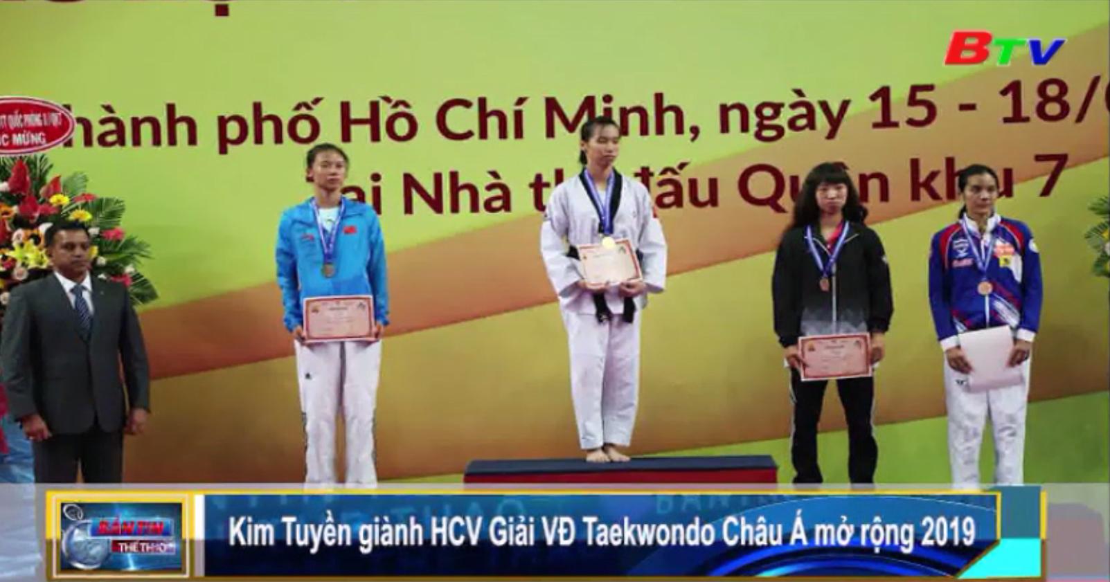 Kim Tuyền giành HCV Giải vô địch Taekwondo châu Á mở rộng 2019